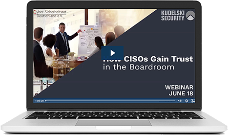 CISO Gain Trust Boardroom webinar_laptop